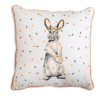 Floral Bunny Pillow