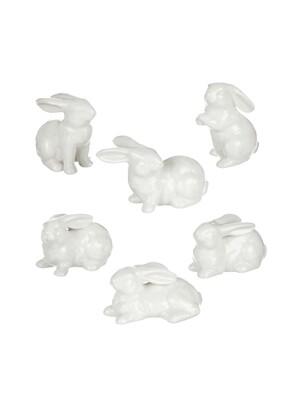 Mini White Ceramic Bunny