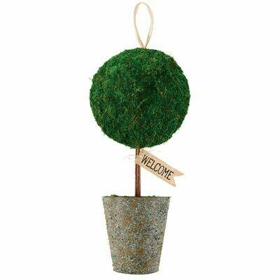 Welcome Topiary Door Hanger