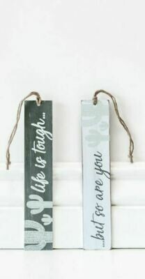 Cactus Wooden Bookmark