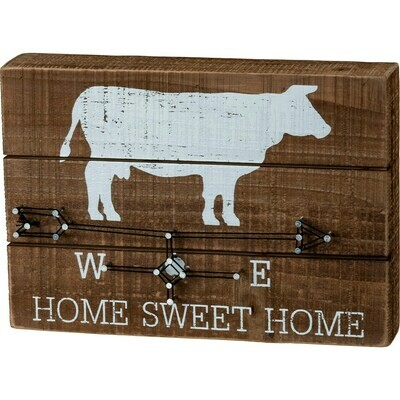 Home Sweet Home Cow String Art
