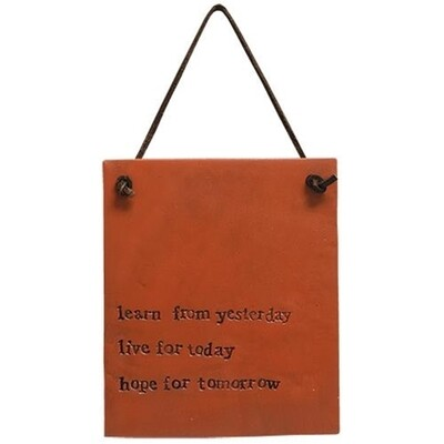 Live for Today Hanging Sign