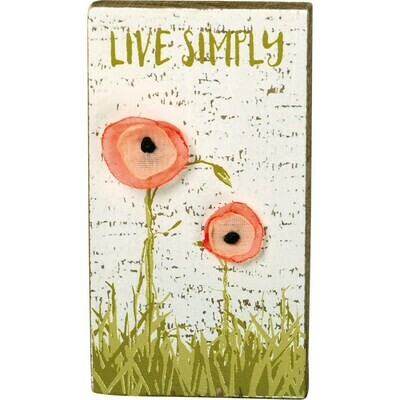 Live Simply Magnet Block