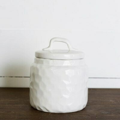White Dimple Canister