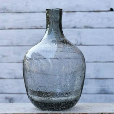 Gray Glass Bubble Vase