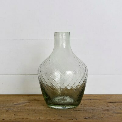 Diamond Glass Bottle Vase