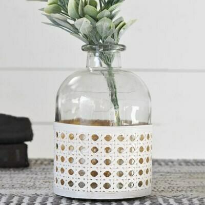 Sm Glass Weave Vase