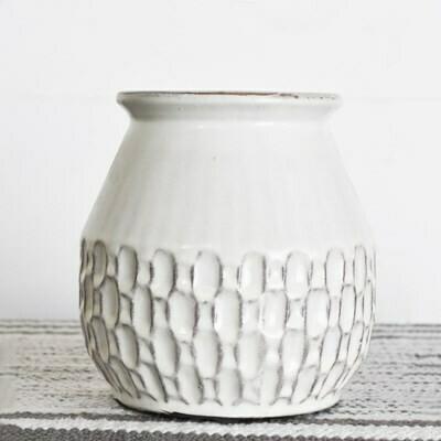 Med Cream Boho Vase