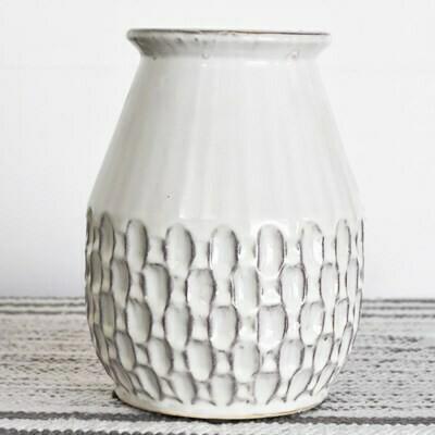 Lg Cream Boho Vase