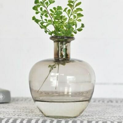 Gray Ball Vase