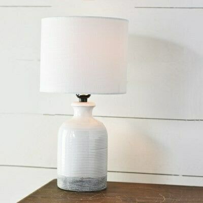 Gray Bottom Lamp