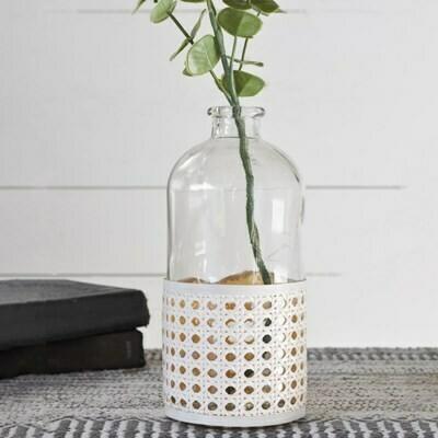 Med Glass Weave Vase