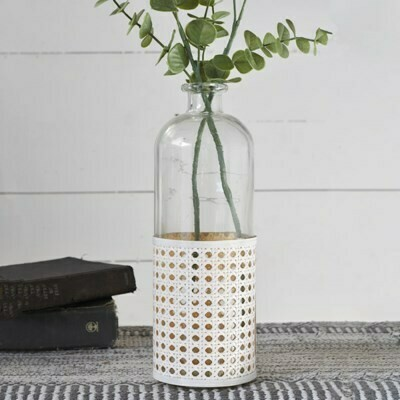 Lg Glass Weave Vase