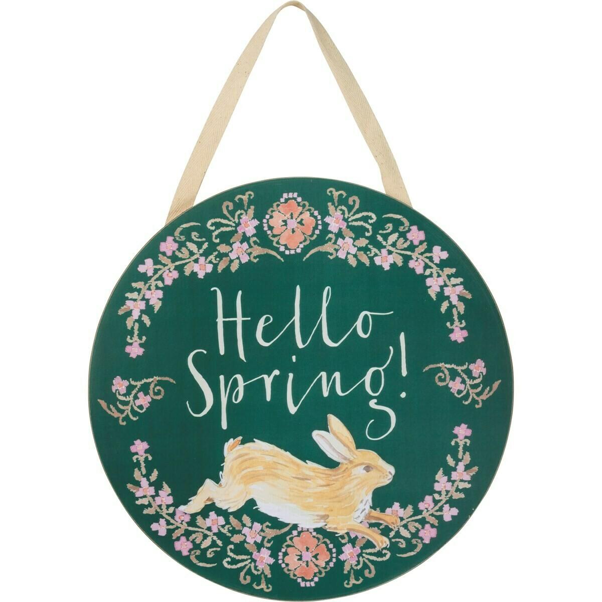 Hello Spring Wall Hanger