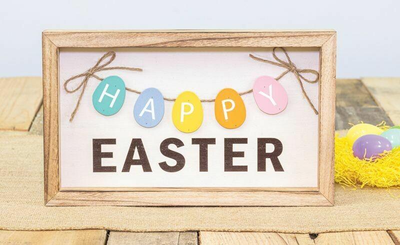 Happy Easter Egg Sign
