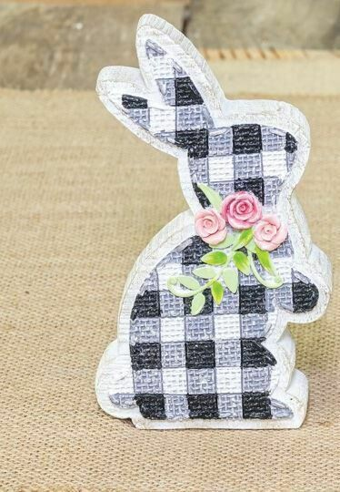 Pink Gingham Bunny