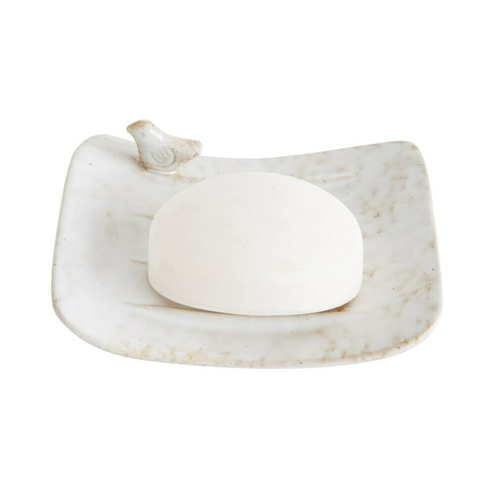 Stoneware Bird Soap Dish