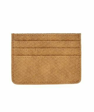 Carmel Faux Leather Card Holder