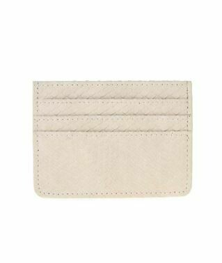 Cream Faux Leather Card Holder