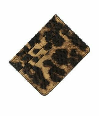 Leopard Faux Leather Card Holder