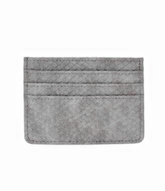Gray Faux Leather Card Holder
