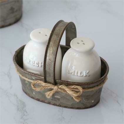 Milk Bottle S&P Shaker Set