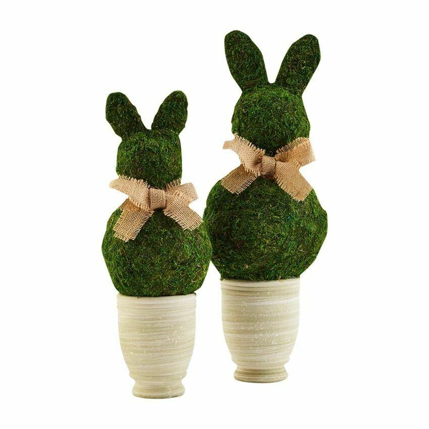 Sm Preserved Moss Bunny Pot
