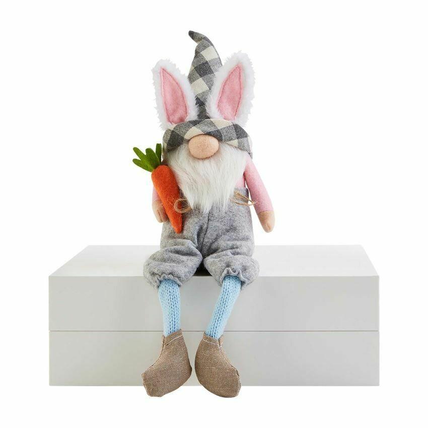 Carrot Bunny Dangle Leg Gnome