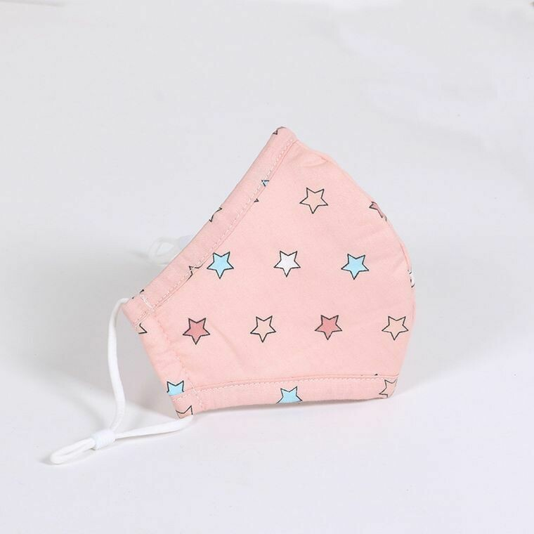 Multi Pink Star Kids Mask