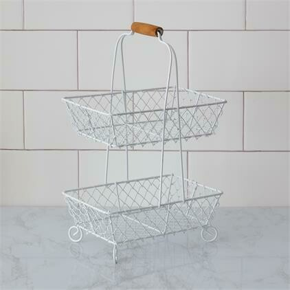 2-Tiered Wire Basket