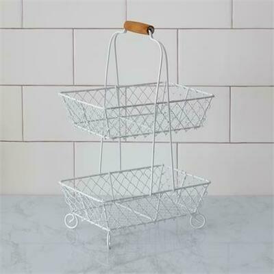 2-Tiered Wire Basket