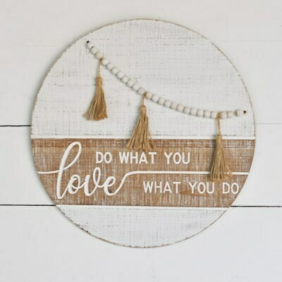 Do What You Love Wood Bead Sign