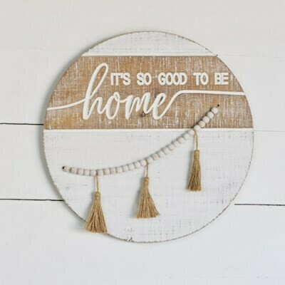 Good to be Home Wood Bead Sign