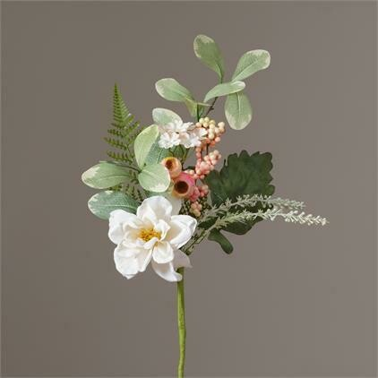 Pink & White Floral Pick