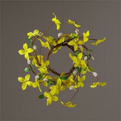 Forsythia Pussy Willow Candle Ring