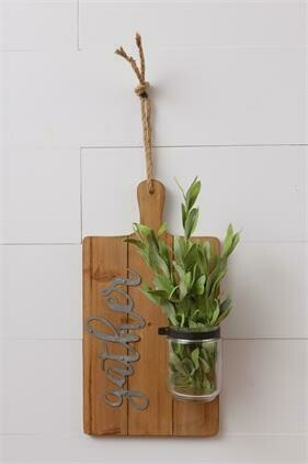 Gather Cutting Board Vase