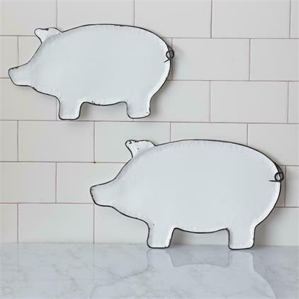 Lg Metal Hanging Pig Tray