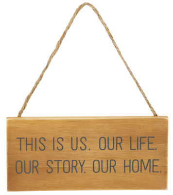 Our Home Hanging Wooden Sign