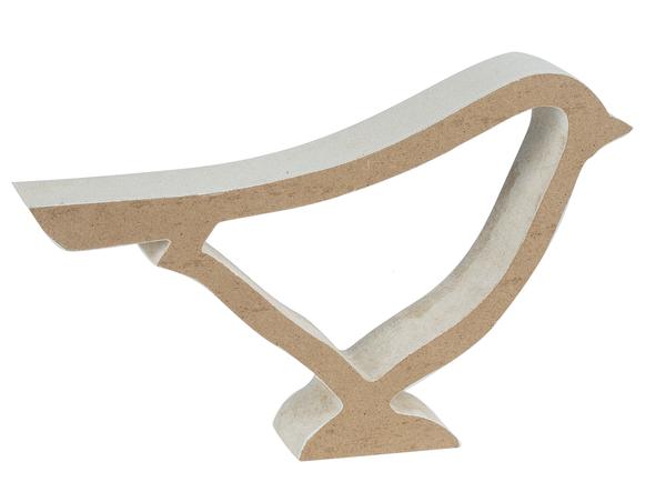 White Wooden Bird Silhouette