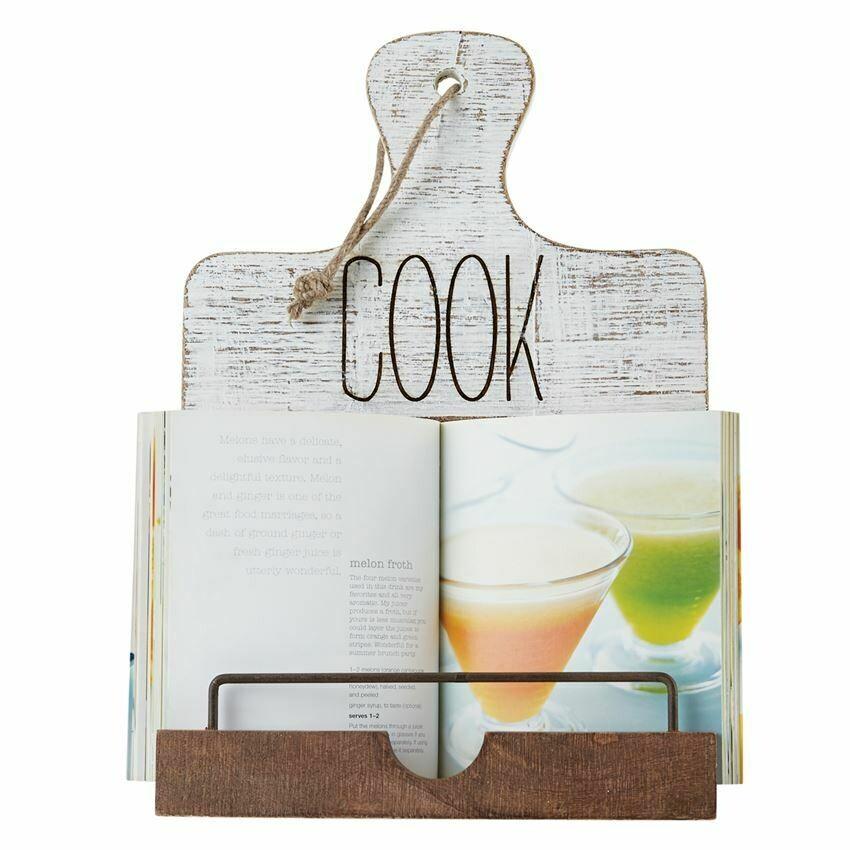 Distressed Wooden Cookbook Holder