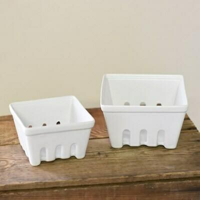 Sm Ceramic Berry Basket