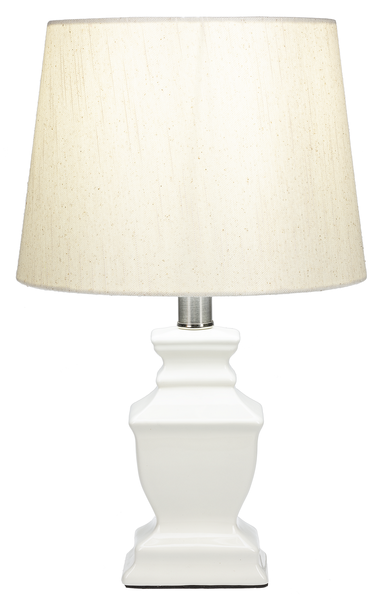 White Sq Urn Accent Lamp
