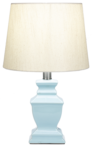 Teal Sq Urn Accent Lamp