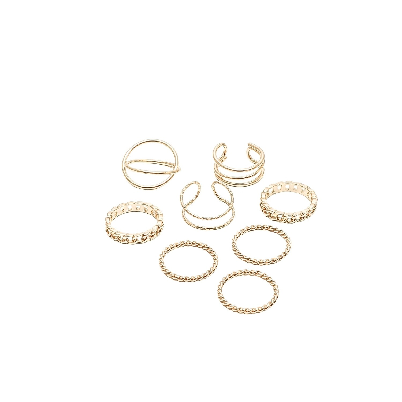 Dainty Gold Ring Set