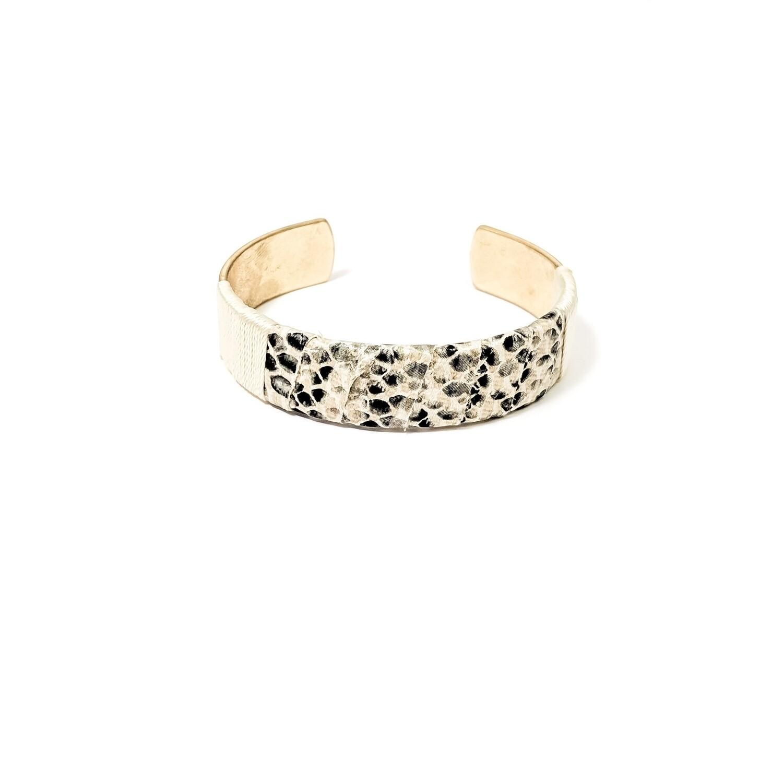 Ivory Snakeskin Bracelet