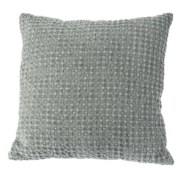 Gray Waffle Pillow