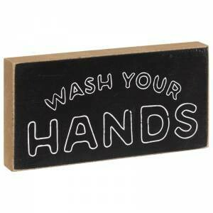 Wash Your Hands Block Sign