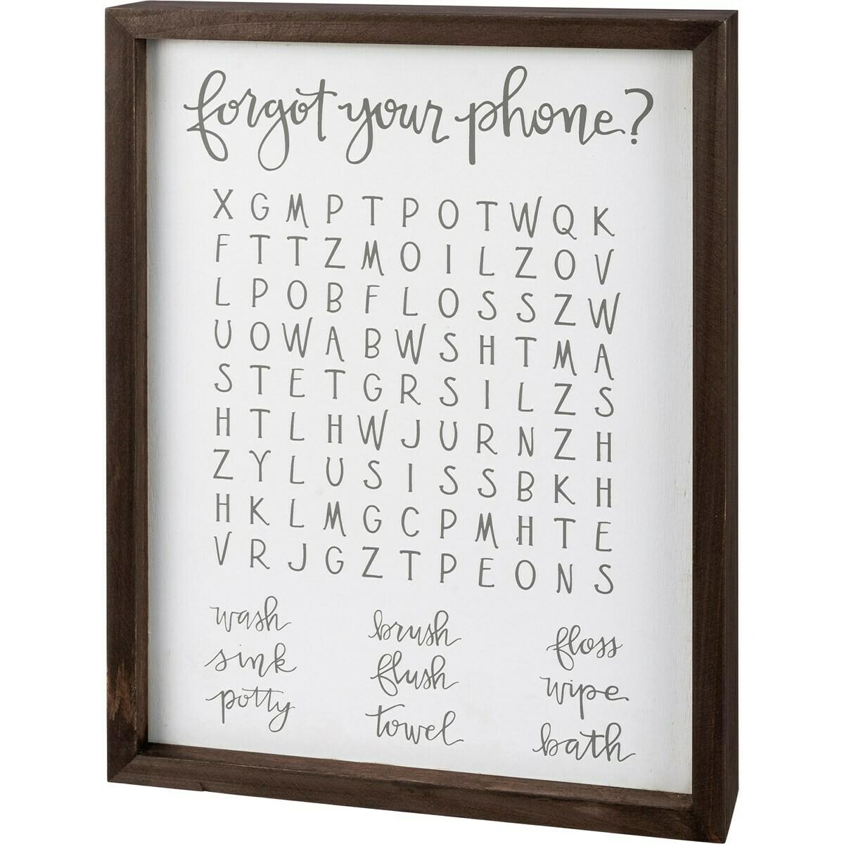 Bathroom Word Search