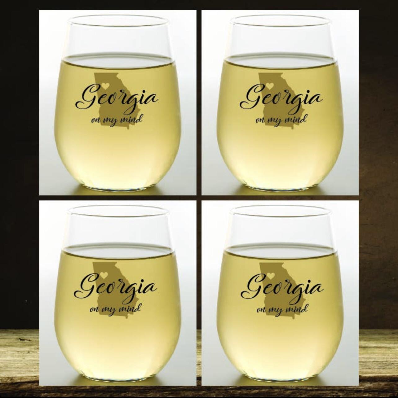 Set of 4 Georgia Shatterproof Wine Glasses