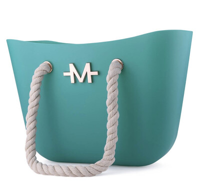 Teal Silicone Tote